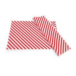 Kırmızı Çizgi Baskılı 40Gr İthal Beyaz Sülfit Ambalaj Kağıdı 70x100CM