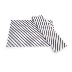 Siyah Çizgi Baskılı 40Gr İthal Beyaz Sülfit Ambalaj Kağıdı 70x100CM
