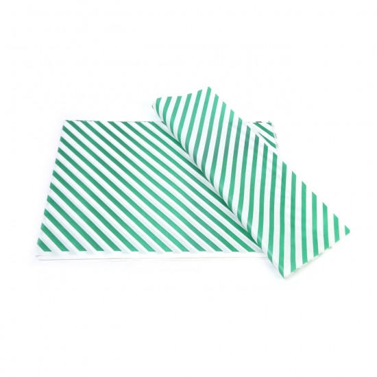 Yeşil Çizgi Baskılı 40Gr İthal Beyaz Sülfit Ambalaj Kağıdı 70x100CM