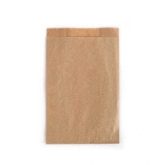 Çizgili Şamua Baskısız Kese Kağıdı 15x33 cm