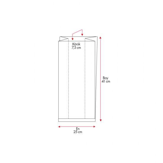Çizgili Pencereli Şamua Baskısız Kese Kağıdı 25x41 cm