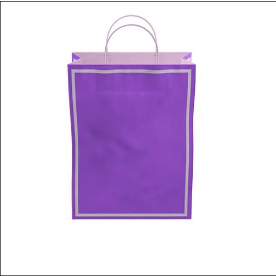 Makaron Mor Kağıt Hediye ve Alışveriş Çantası (25x12x31) 25 Adet