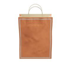 Makaron Turuncu  Kağıt Hediye ve Alışveriş Çantası (25x12x31) 25 Adet