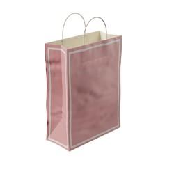 Makaron Pembe Kağıt Hediye ve Alışveriş Çantası (25x12x31) 25 Adet