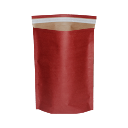 Bordo Renkli Kağıt Bantlı Hediye Poşeti (34x45) CM 25 Adet