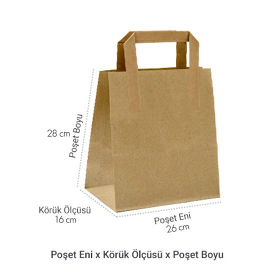 Düz Saplı Kağıt Hediye ve Alışveriş Çantası (26x16x28) Adet Seçmeli