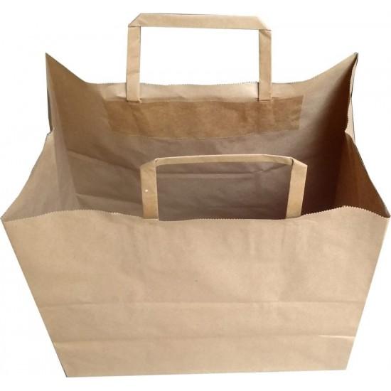 Düz Saplı Kağıt Hediye ve Alışveriş Çantası (27x16x30) Adet Seçmeli