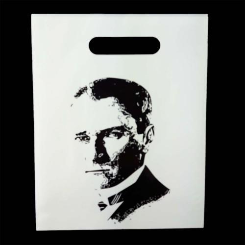 Atatürk Baskılı Hediye Poşeti (20x25) 100 Adet