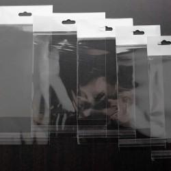 Askılı Şeffaf Bantlı Poşet (13x15+10 cm) 1.000 Adet