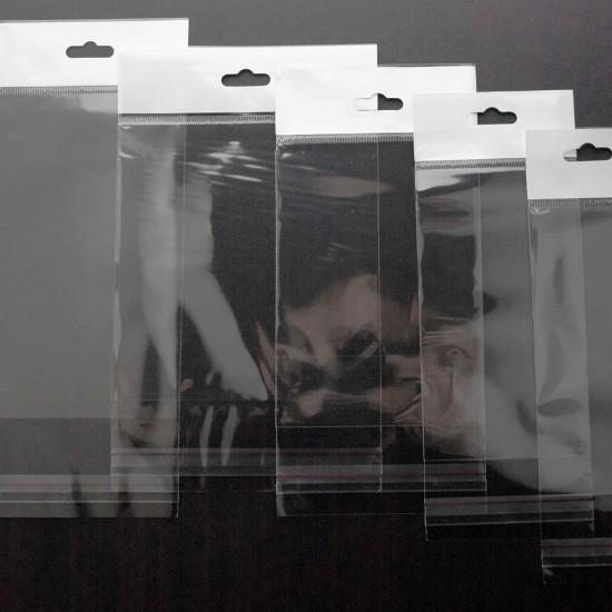 Askılı Şeffaf Bantlı Poşet (15x20+10 cm) 1.000 Adet