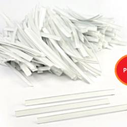 Körüklü Opp Poşet Plastik Kapama Klipsi - 12 cm Beyaz Plastik - 1000 Adet