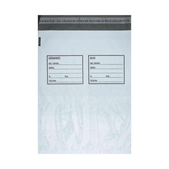 Baskısız Cepli Kargo Poşeti Gönderici-Alıcı Baskılı 35x45+5 cm