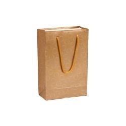 Baskılı Altın Karton Hediye ve Alışveriş Çantası (11x16) 25 Adet