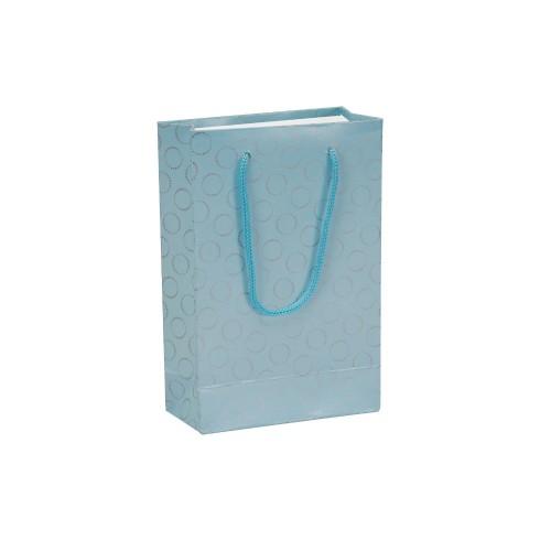 İpli Baskılı Karton Çanta MAVİ (11x16,5) cm. 25 Adet