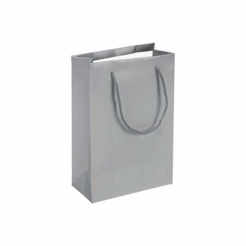 Gümüş Karton Çanta (14x17) cm. 25 Adet