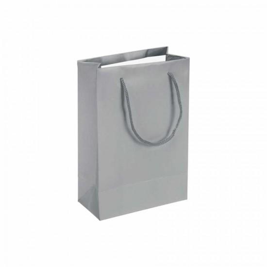Gümüş Karton Hediye ve Parti Çantası (14x17) 25 Adet