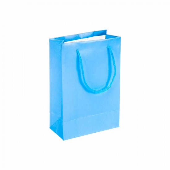 Mavi Karton Hediye ve Parti Çantası (14x17) 25 Adet