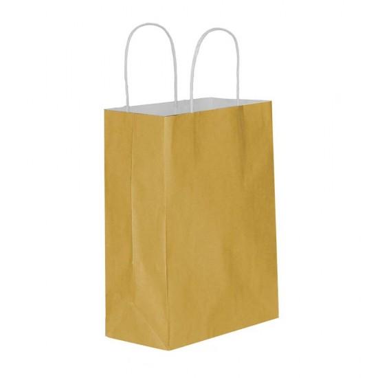 Altın Kağıt Hediye ve Alışveriş Çantası (45x12x50) 25 Adet