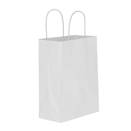 Beyaz Kağıt Hediye ve Alışveriş Çantası (31x12x41) 25 Adet