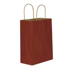 Bordo Kağıt Hediye ve Alışveriş Çantası (25x12x31) 25 Adet
