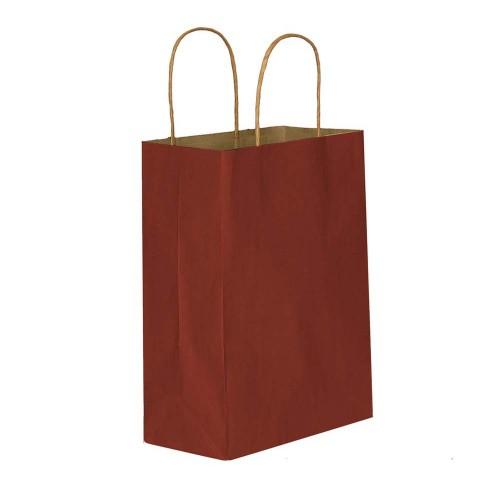 Bordo Kağıt Hediye ve Alışveriş Çantası (15x8x20) 25 Adet