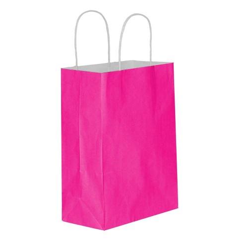 Fuşya Kağıt Hediye ve Alışveriş Çantası (18x8x24) 25 Adet