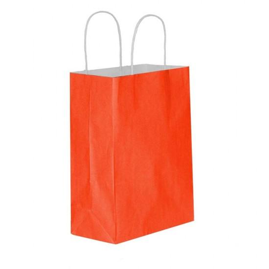 Kırmızı Kağıt Hediye ve Alışveriş Çantası (25x12x31) 25 Adet