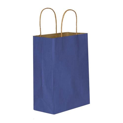 Lacivert Kağıt Hediye ve Alışveriş Çantası (15x8x20) 25 Adet