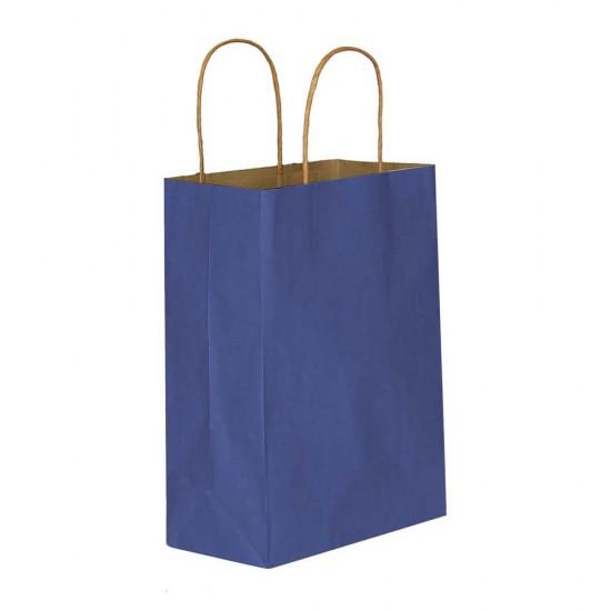 Lacivert Kağıt Hediye ve Alışveriş Çantası (25x12x31)