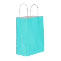 Mavi Kağıt Hediye ve Alışveriş Çantası (18x8x24) 25 Adet