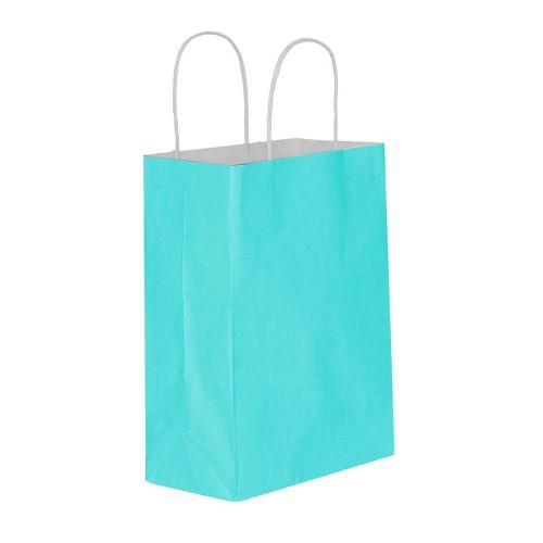 Mavi Kağıt Hediye ve Alışveriş Çantası (15x8x20) 25 Adet
