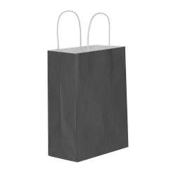 Siyah Kağıt Hediye ve Alışveriş Çantası (15x8x20) 25 Adet