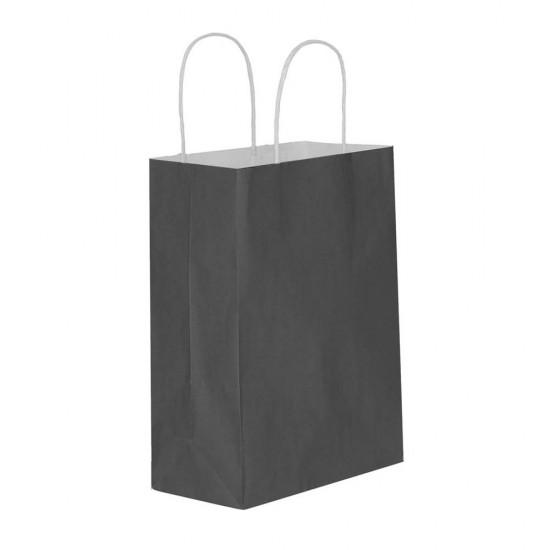 Siyah Kağıt Hediye ve Alışveriş Çantası (11x6x16) 25 Adet