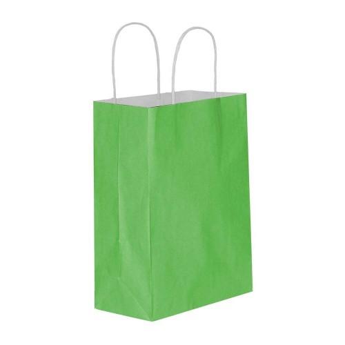 Yeşil Kağıt Hediye ve Alışveriş Çantası (15x8x20) 25 Adet