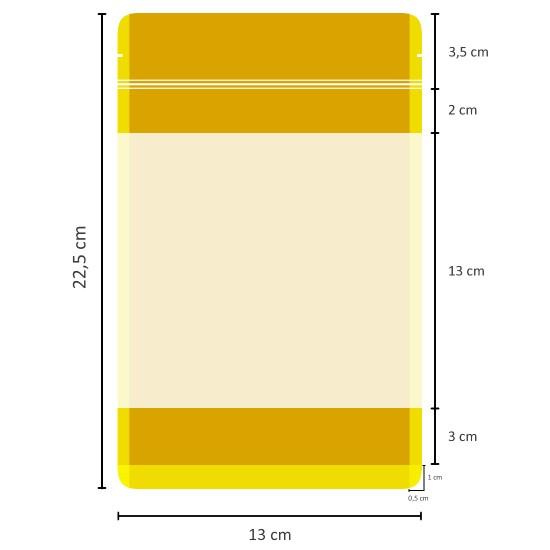 Büyük Pencereli Kağıt Doypack (13x22,5)