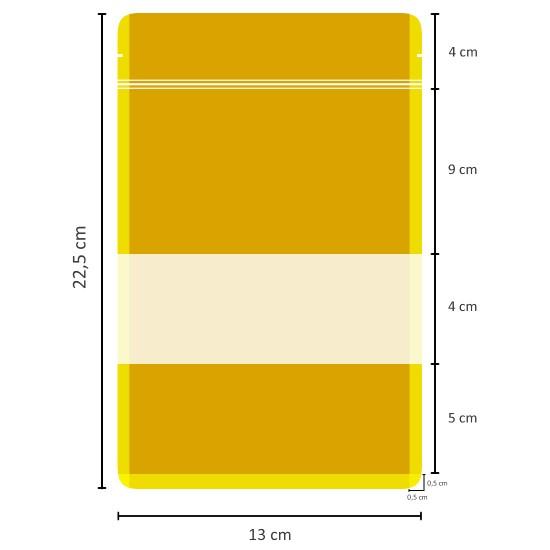 Pencereli Kağıt Doypack (13x22,5)