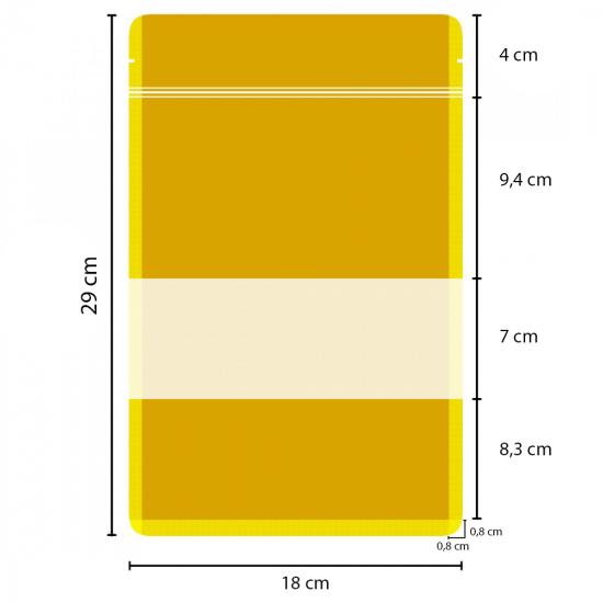 Pencereli Kağıt Doypack (18x29)