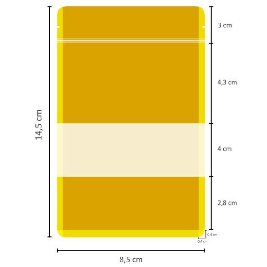 Pencereli Kağıt Doypack (8,5x14,5)