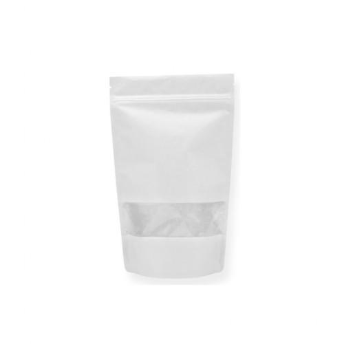 Pencereli Beyaz Kraft Doypack (13x22,5) cm.