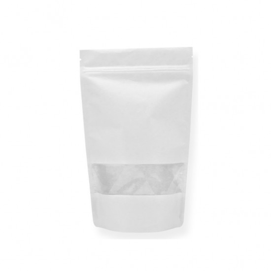 Pencereli Beyaz Kağıt Doypack (16x27)
