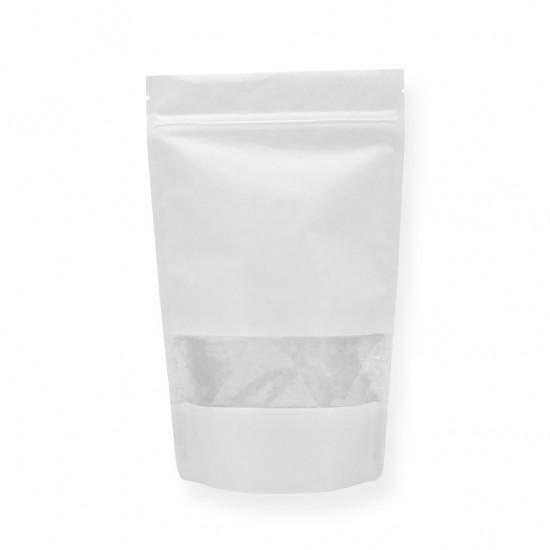Pencereli Beyaz Kağıt Doypack (20x30)