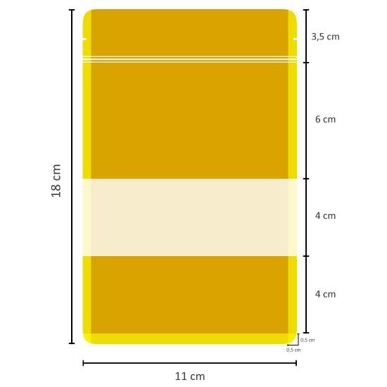 Pencereli Beyaz Kağıt Doypack (11x18)